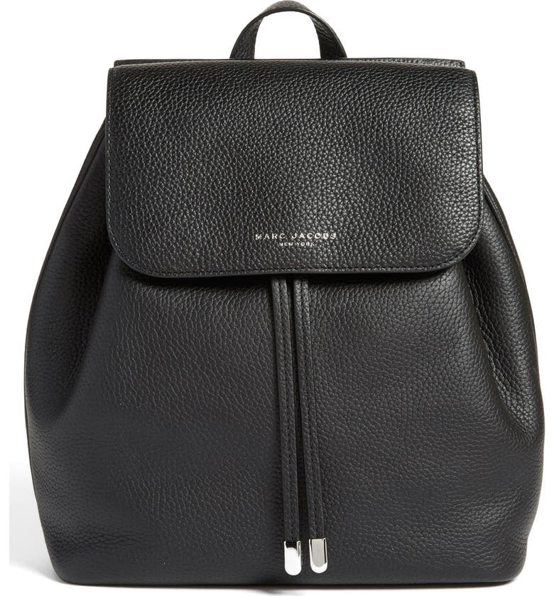 MARC JACOBS 'Pike Place' Pebbled Leather Backpack, Main, color, 001