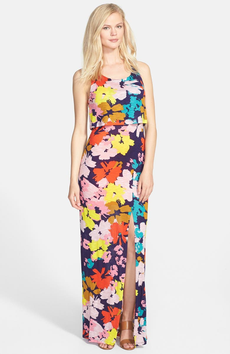 FELICITY & COCO Floral Print Popover Maxi Dress, Main, color, 669