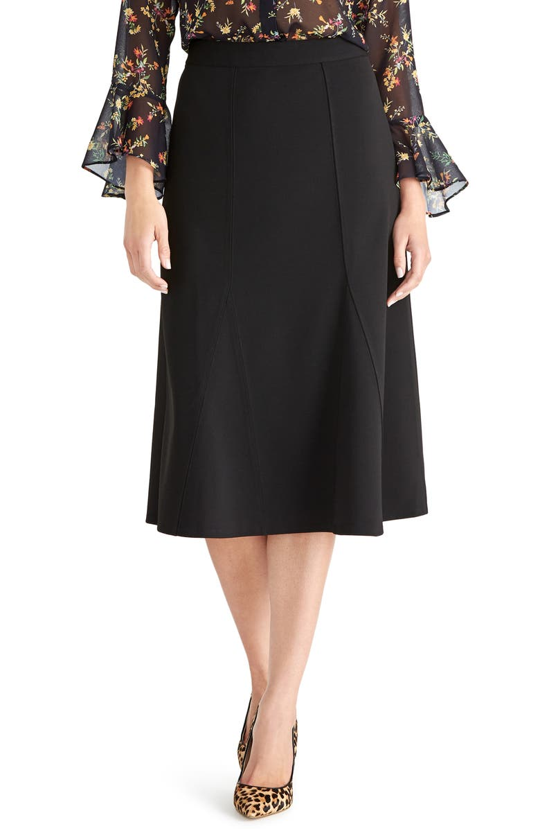 RACHEL ROY COLLECTION Seamed A-Line Skirt, Main, color, 001