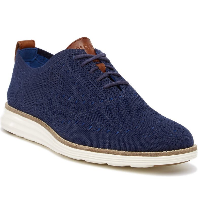 COLE HAAN Original Grand Shortwing Oxford, Main, color, NAVY/IVORY