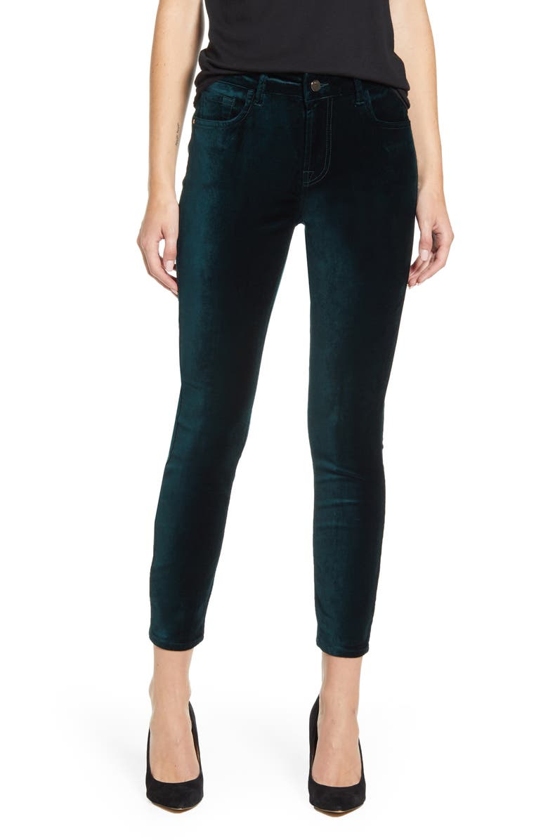 JEN7 BY 7 FOR ALL MANKIND Stretch Velvet Ankle Skinny Jeans, Main, color, 440