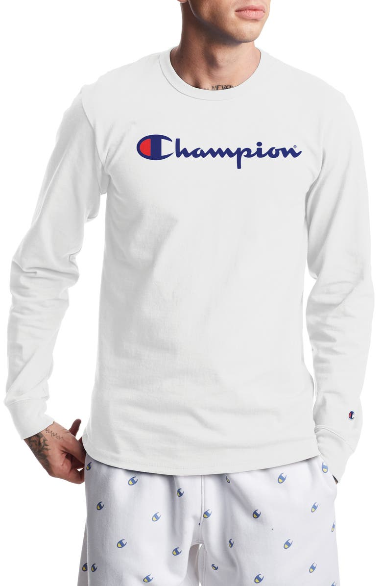 CHAMPION Heritage Long Sleeve Graphic Tee, Main, color, WHITE