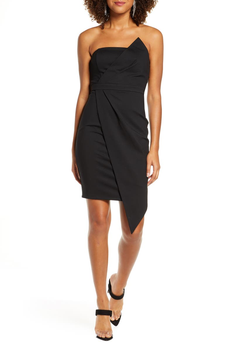 LULUS Queen of the City Strapless Cocktail Dress, Main, color, 001