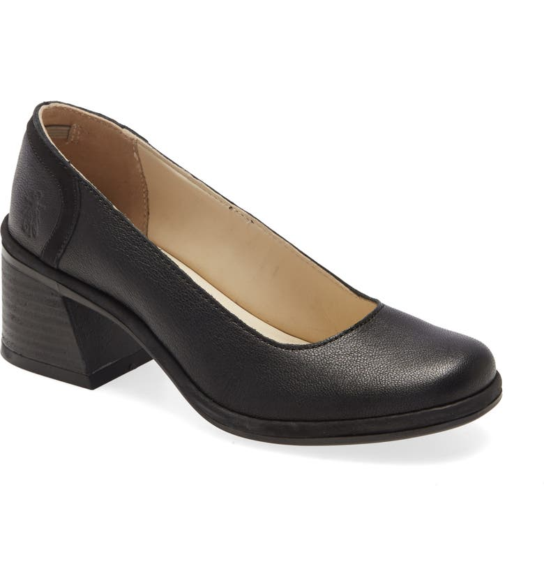 FLY LONDON Luno Pump, Main, color, BLACK MOUSSE/ CUPIDO LEATHER