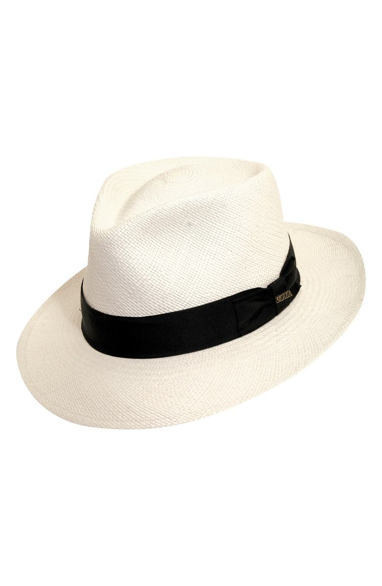 SCALA Straw Panama Hat, Main, color, 116