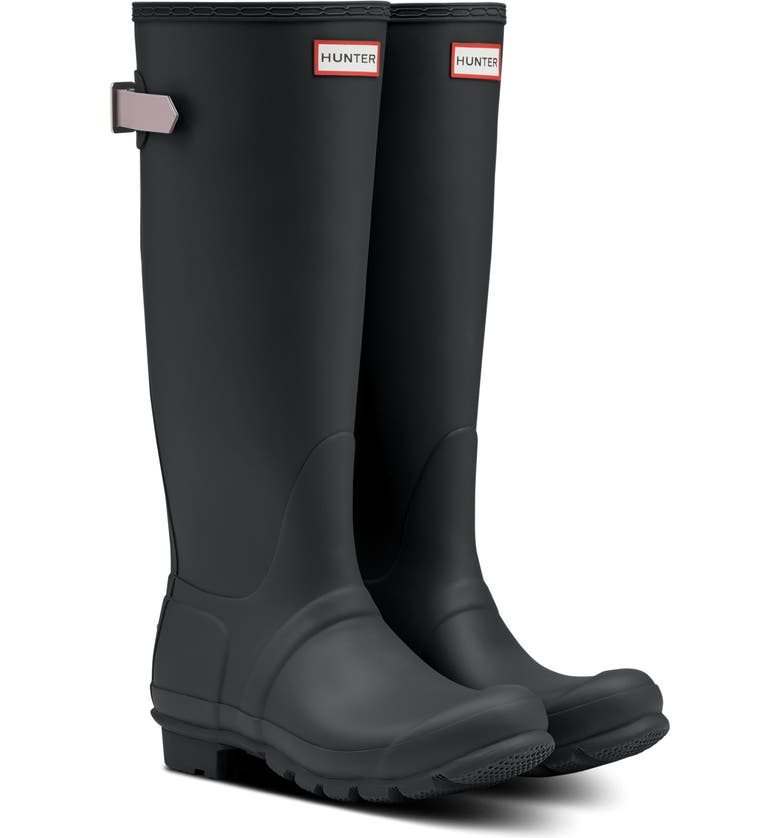 HUNTER Original Tall Waterproof Rain Boot, Main, color, FIRTH/ ATLANTIS