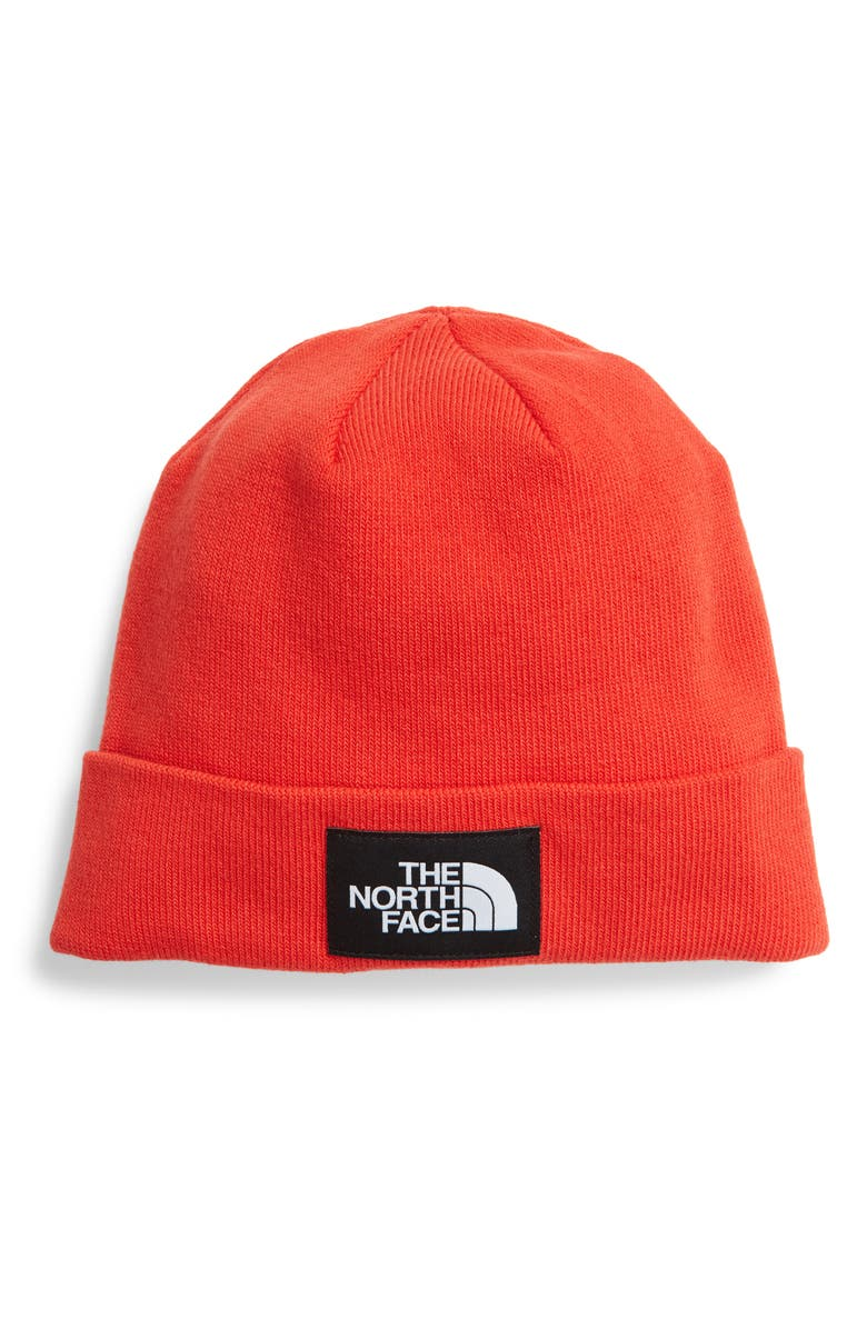 THE NORTH FACE Dock Worker Recycled Beanie, Main, color, FLARE