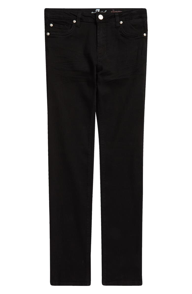 7 FOR ALL MANKIND Kid's Slimmy Slim Fit Jeans, Main, color, BLACK OUT