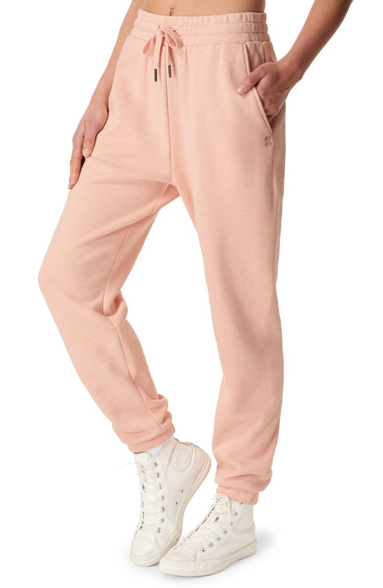 SWEATY BETTY Essential Pocket Joggers, Main, color, ANTIQUE PINK