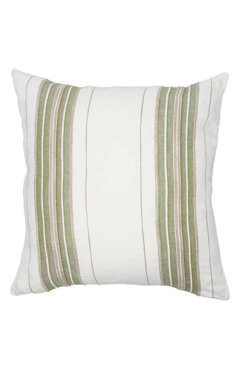 EADIE LIFESTYLE Oxford Linen Yarn Dyed Accent Pillow, Main, color, 900