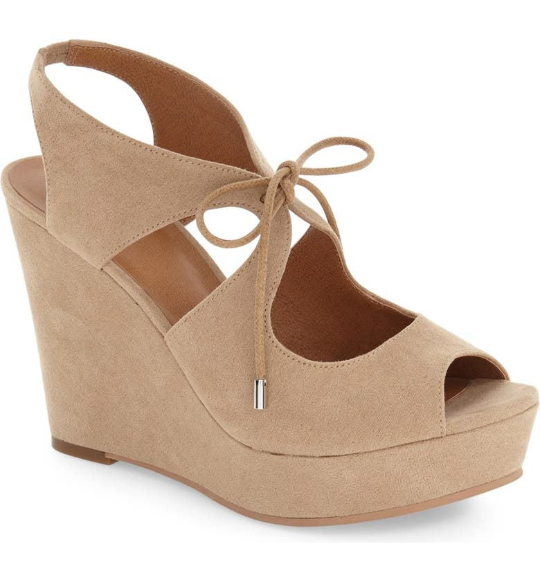 BP. 'Solar' Platform Wedge Sandal, Main, color, 255