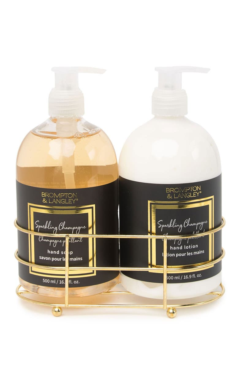 UPPER CANADA SOAPS Hand Wash and Lotion Caddy Set, Main, color, NO COLOR
