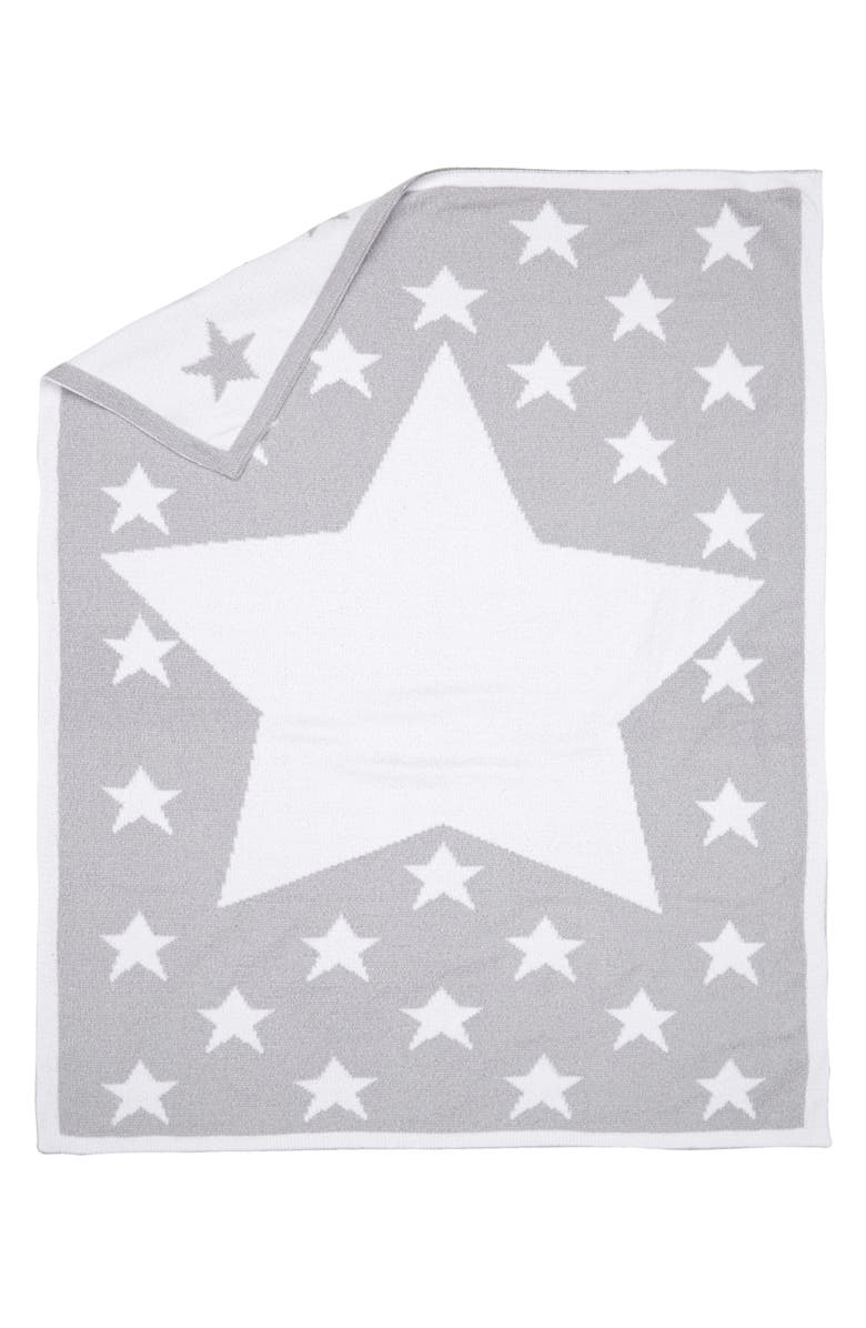 NORDSTROM BABY Chenille Blanket, Main, color, GREY MICRO STAR