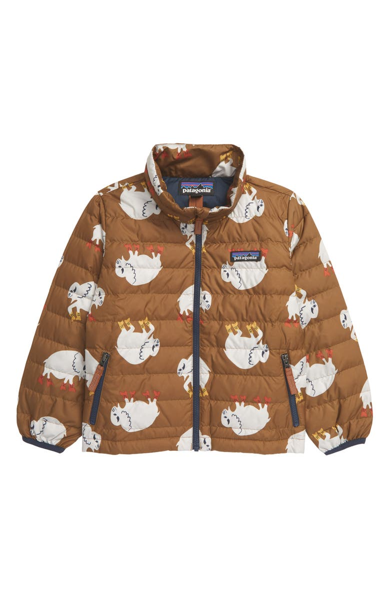 PATAGONIA Water Repellent 600 Fill Power Down Sweater Jacket, Main, color, LETS REGENERATE MULCH BROWN