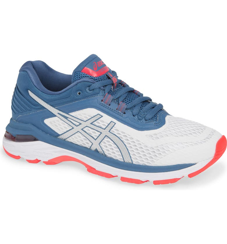 ASICS<SUP>®</SUP> GT-2000 6 Running Shoe, Main, color, WHITE/ AZURE