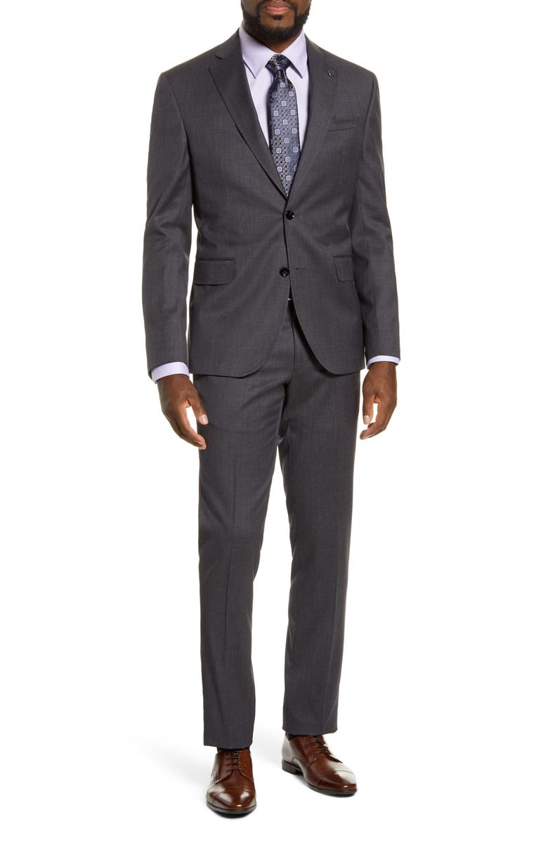 TED BAKER LONDON Roger Slim Fit Solid Wool Suit, Main, color, 020