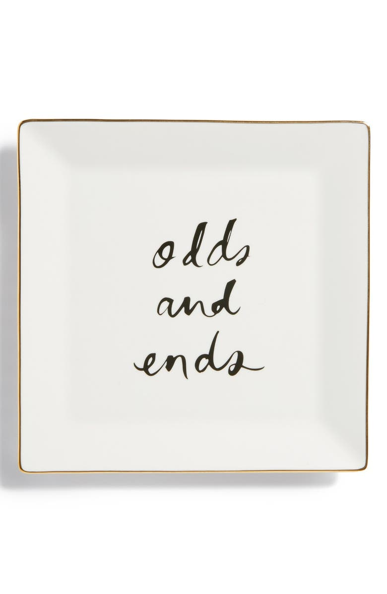 KATE SPADE NEW YORK 'daisy place - odds & ends' tray, Main, color, White