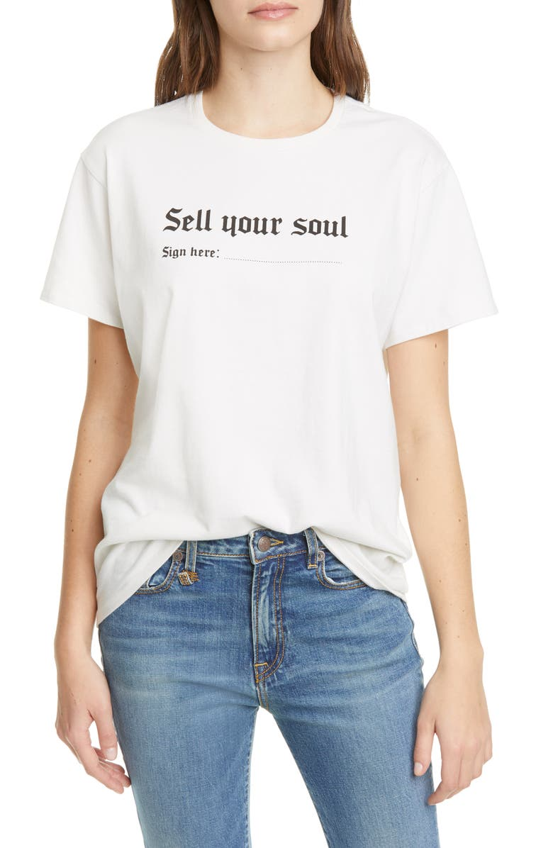 R13 Sell Your Soul Boy Tee, Main, color, 900