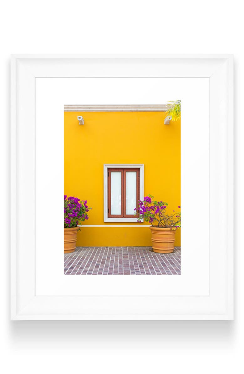 DENY DESIGNS El Pueblito Art Print, Main, color, WHITE FRAME