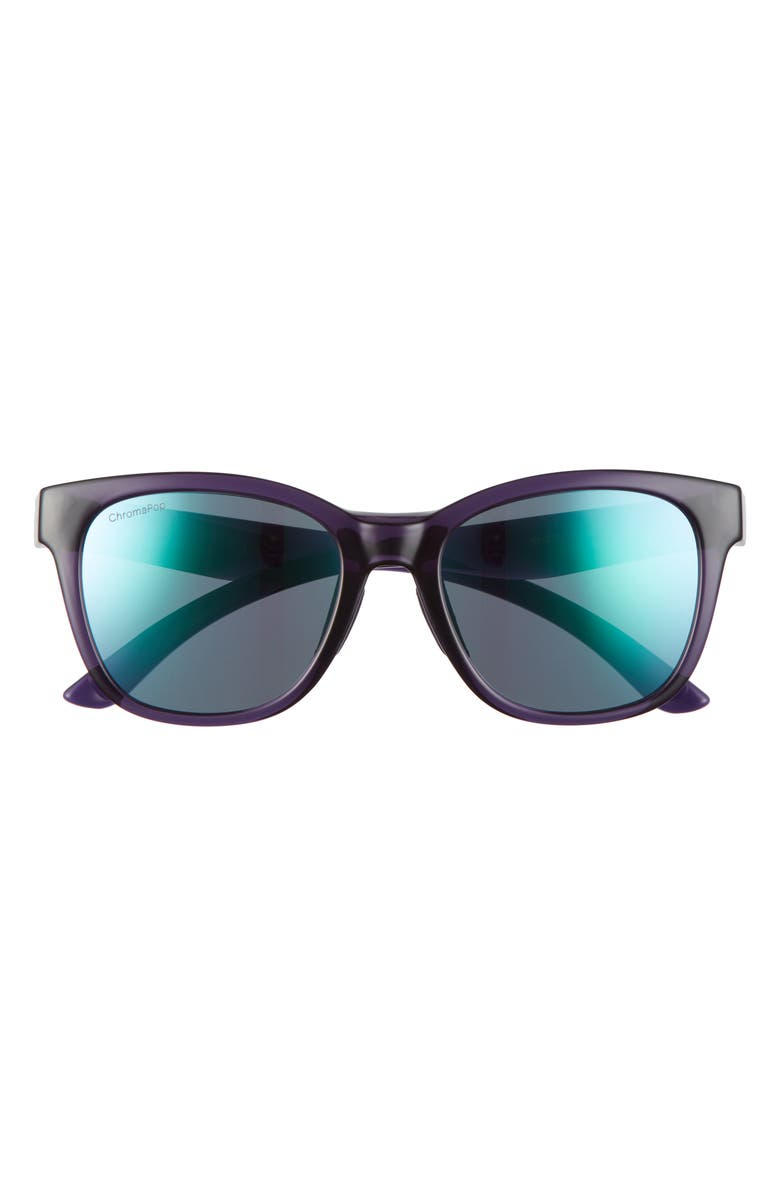 SMITH Caper 53mm ChromaPop<sup>™</sup> Polarized Square Sunglasses, Main, color, CRYSTAL MIDNIGHT/VIOLET