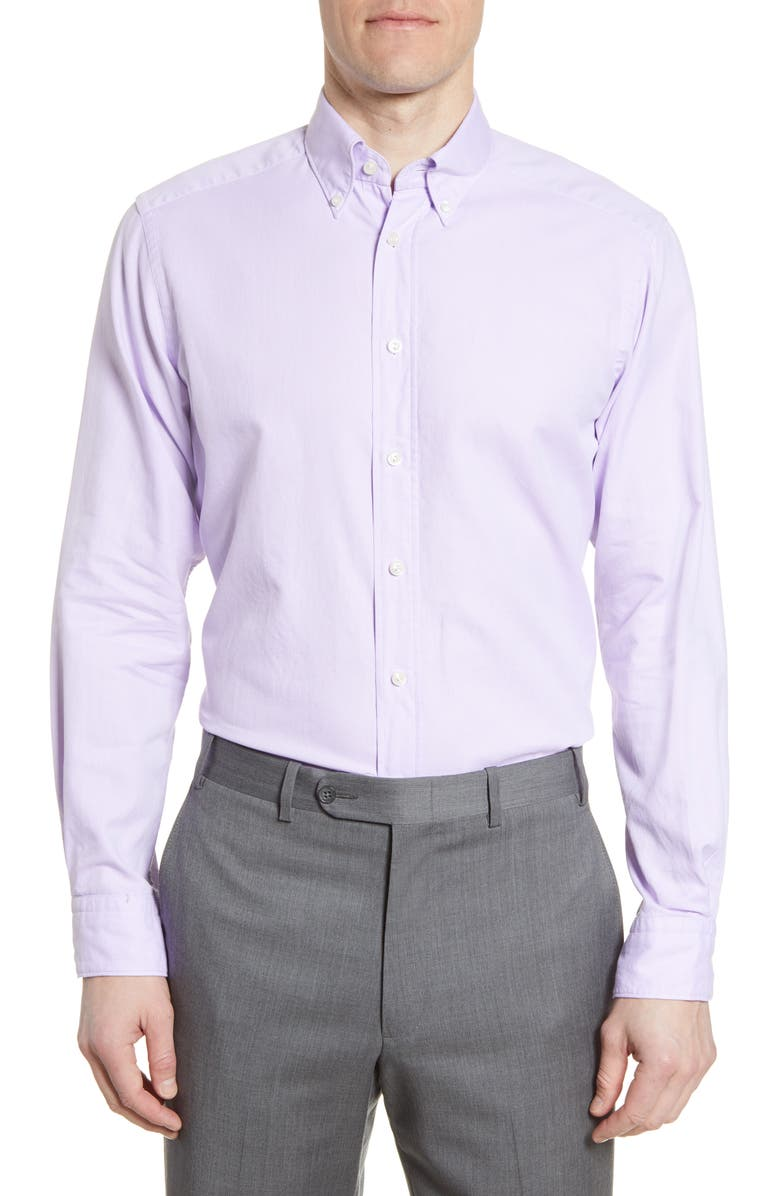 ETON Soft Casual Line Contemporary Fit Oxford Casual Shirt, Main, color, Purple