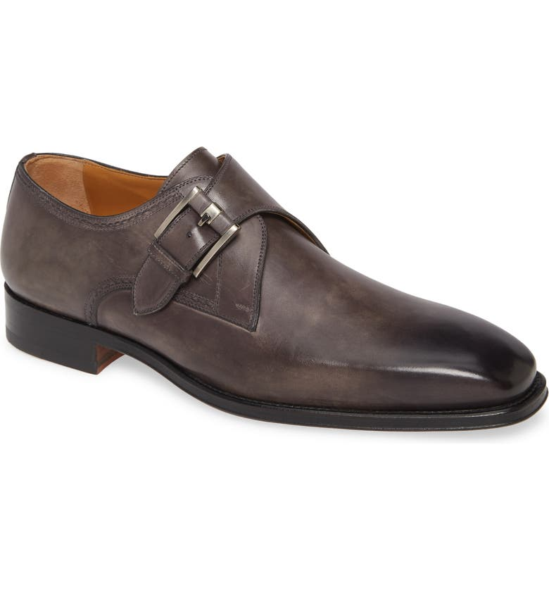 MAGNANNI Marco II Monk Strap Shoe, Main, color, GREY