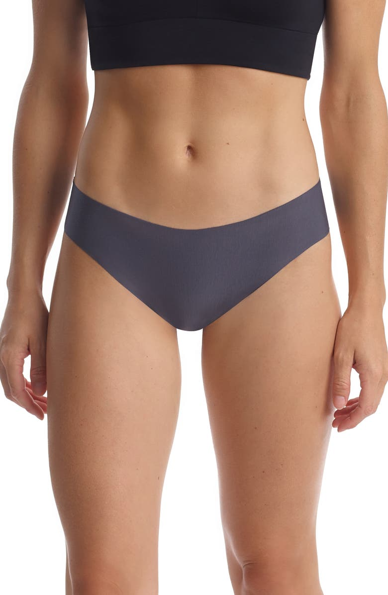 COMMANDO Butter Stretch Modal Thong, Main, color, GRAPHITE
