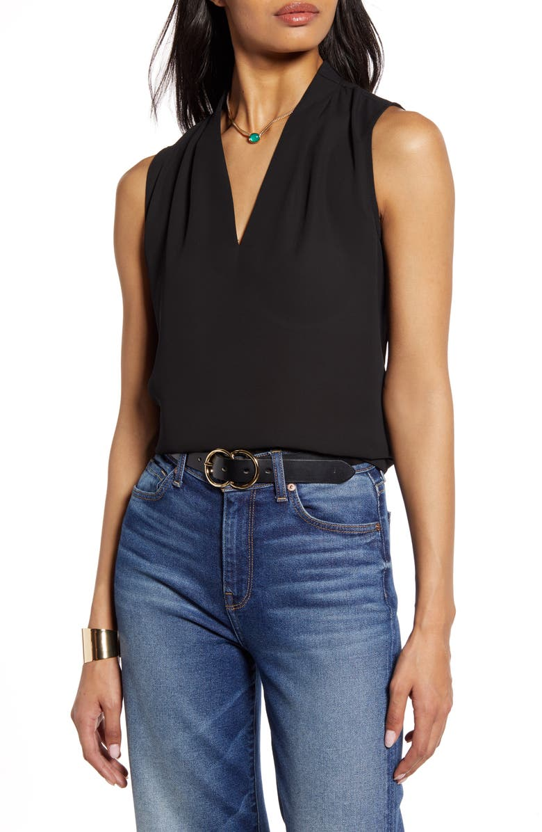HALOGEN<SUP>®</SUP> V-Neck Blouse, Main, color, 001