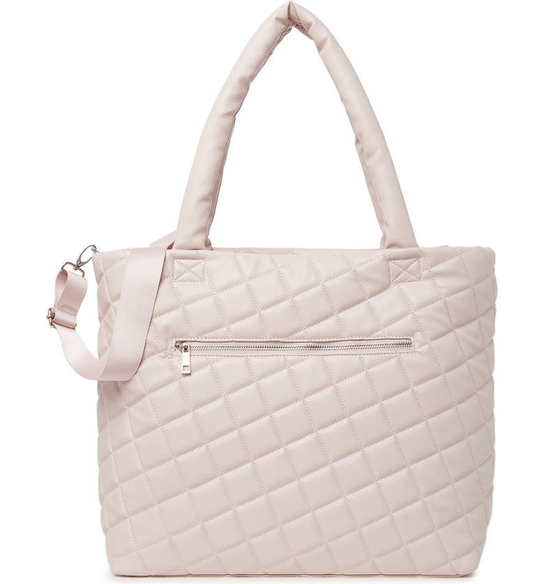 MADDEN GIRL Quilted Tote Bag, Main, color, BLUSH