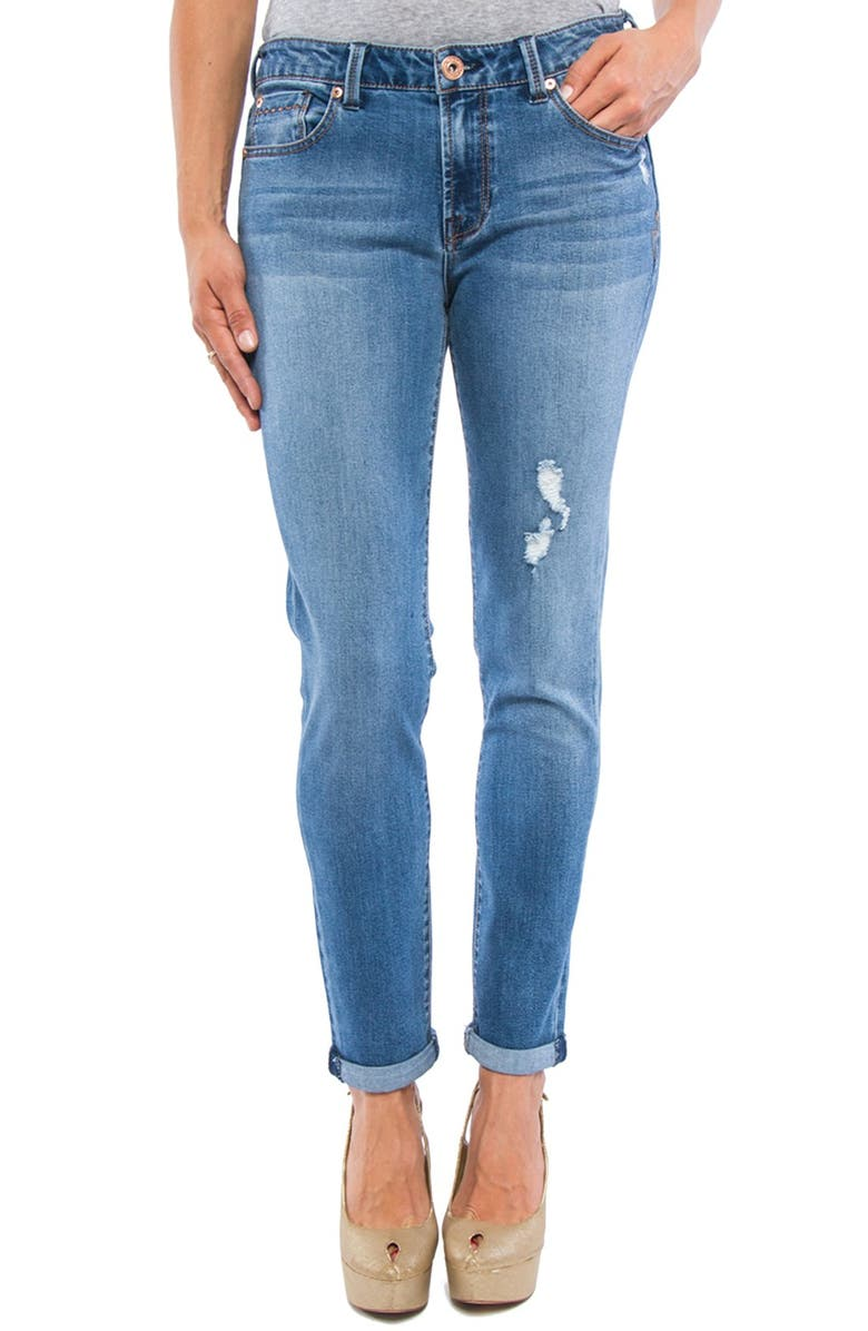 LIVERPOOL Jeans Company 'Tory' Distressed Girlfriend Jeans, Main, color, 401