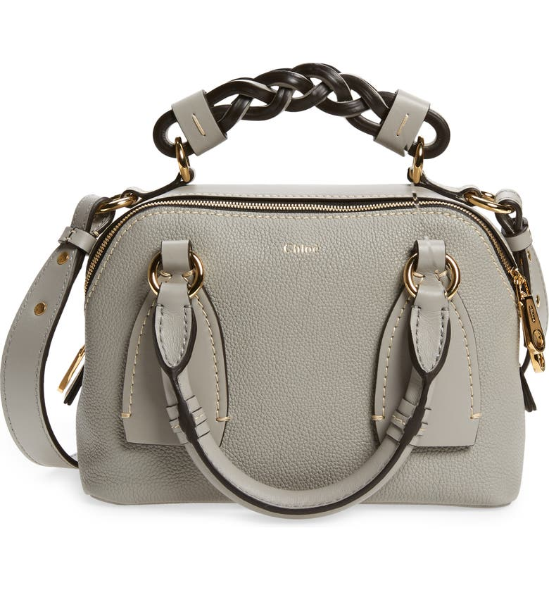 CHLOÉ Small Daria Leather Day Bag, Main, color, 030