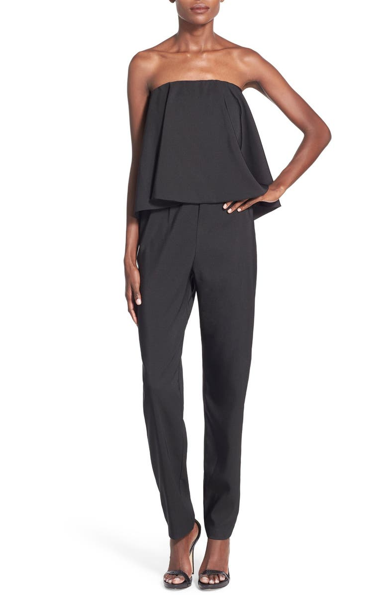 WAYF Strapless Overlay Jumpsuit, Main, color, 001