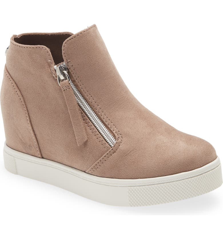 STEVE MADDEN Caliber Wedge Sneaker, Main, color, TAUPE