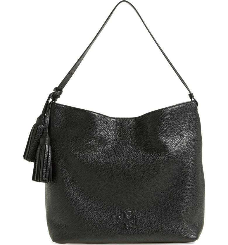 TORY BURCH 'Thea' Leather Hobo, Main, color, 002
