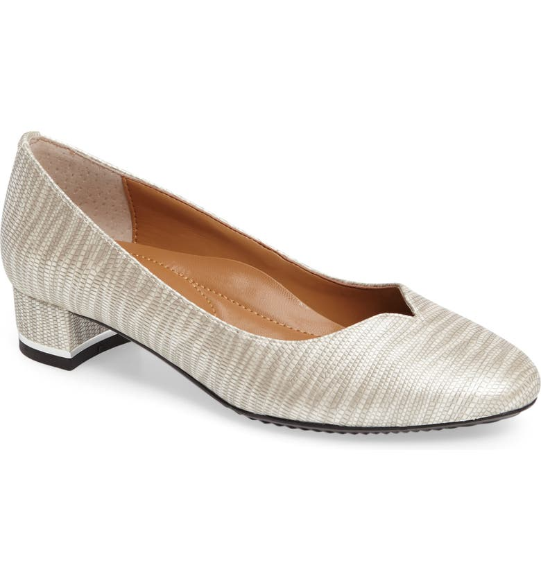 J. RENEÉ Bambalina Block Heel Pump, Main, color, GREY METALLIC FAUX LEATHER