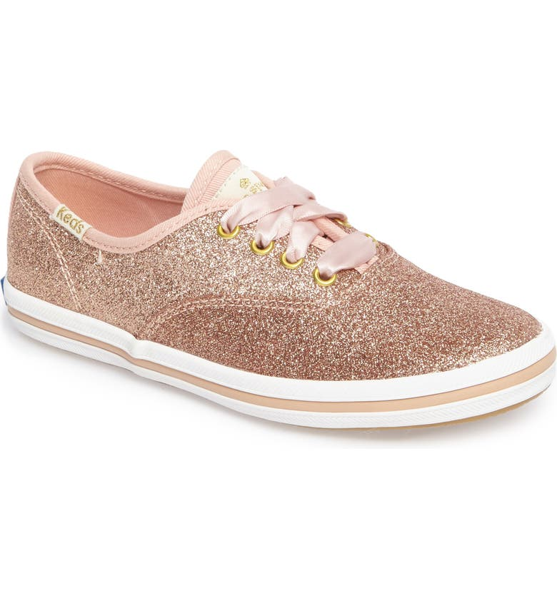 KEDS<SUP>®</SUP> x kate spade new york Champion Glitter Sneaker, Main, color, ROSE GOLD