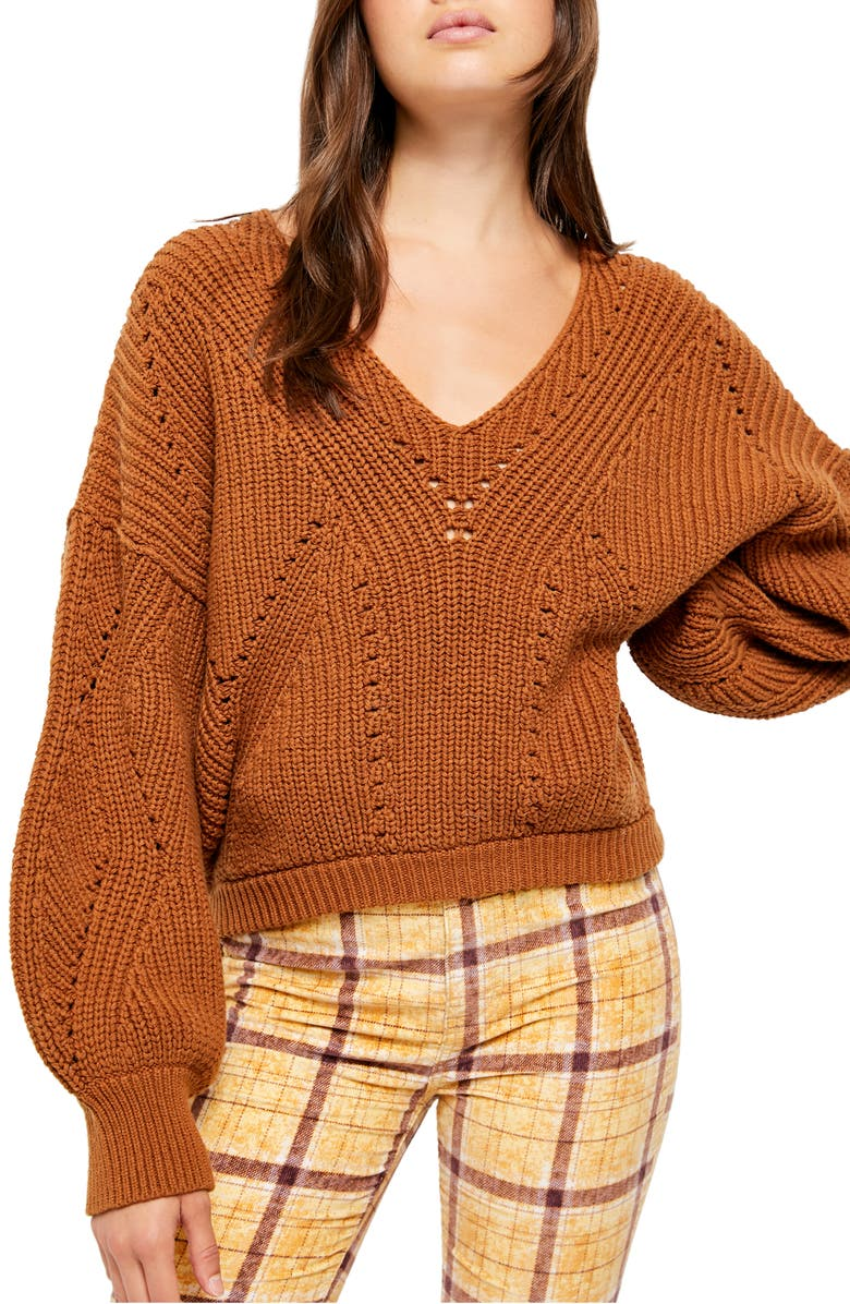 FREE PEOPLE All Day Long Sweater, Main, color, 200