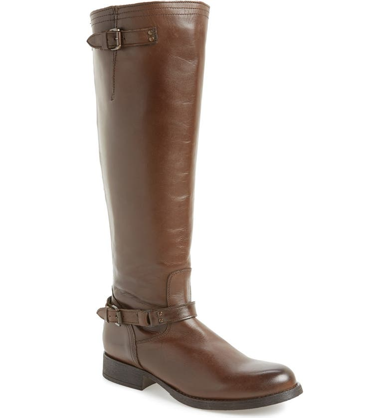 STEVE MADDEN 'Rex' Leather Knee High Boot, Main, color, BROWN LEATHER