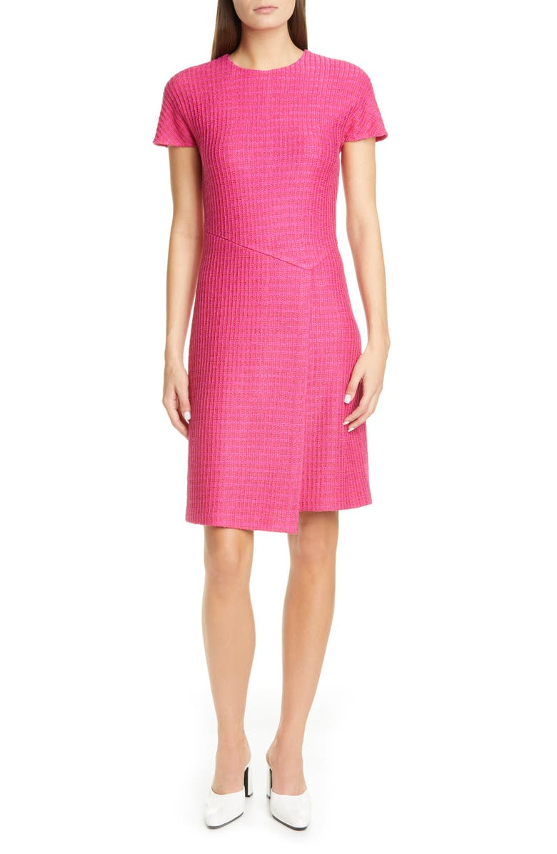 ST. JOHN COLLECTION Poppy Textured Knit Dress, Main, color, 650