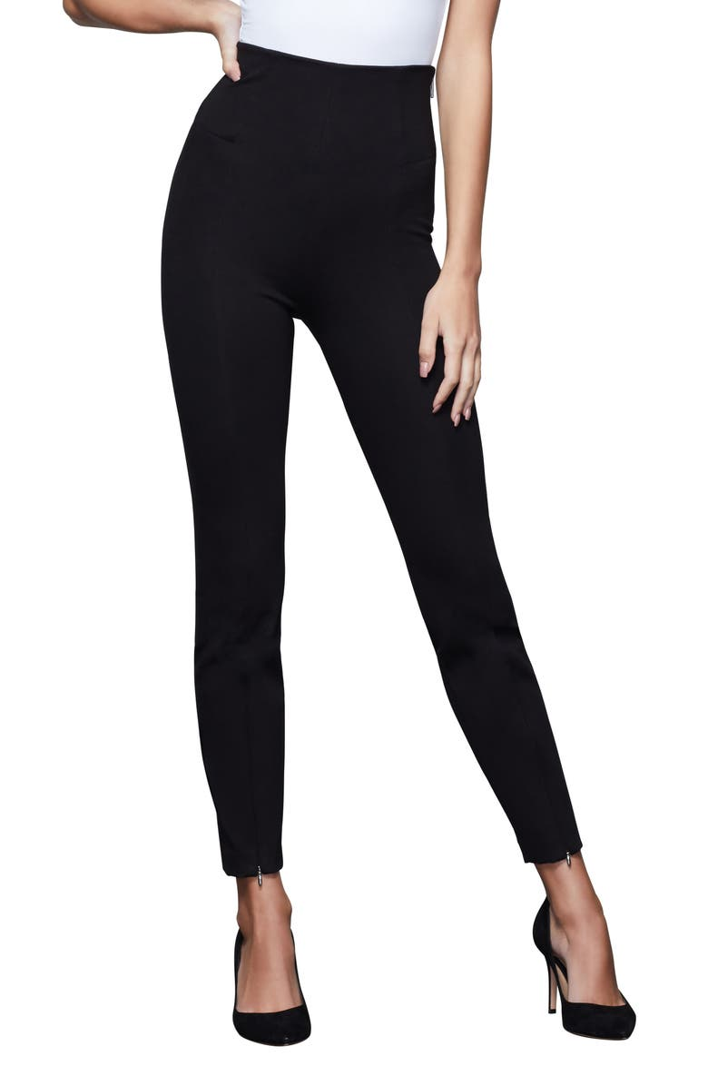 GOOD AMERICAN Boss Skinny Pants, Main, color, BLACK