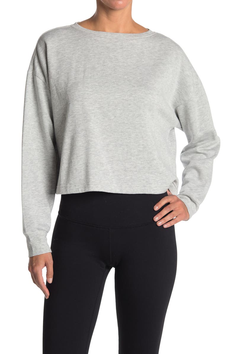 Z BY ZELLA Sunset Pullover, Main, color, GREY LIGHT HEATHER
