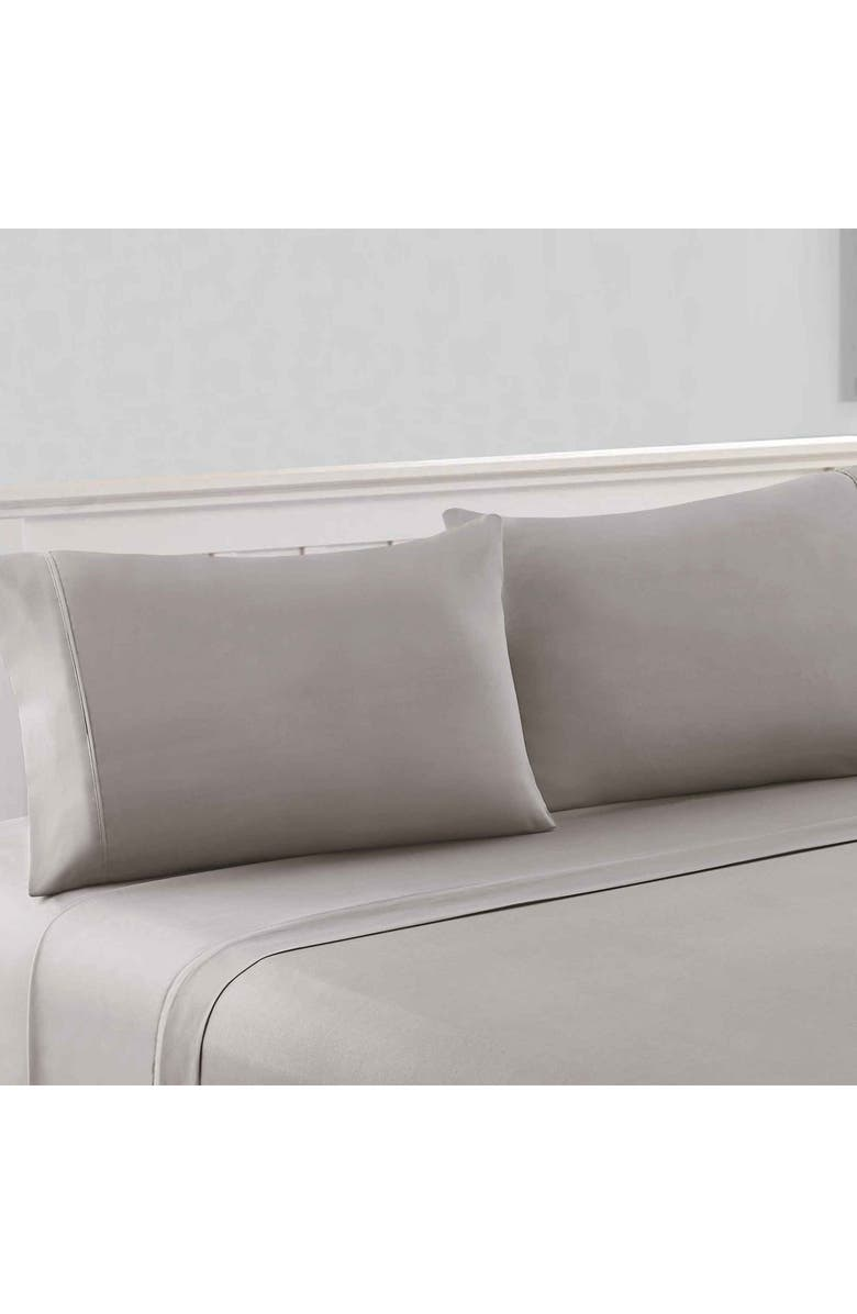 MODERN THREADS 1800 Series 100 Solid Microfiber 4-Piece Sheet Set Gray King, Main, color, GRAY