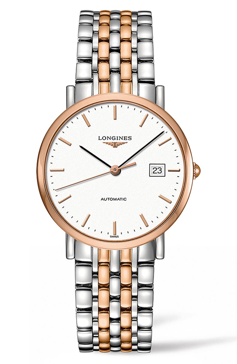 LONGINES Elegant Automatic Bracelet Watch, 37mm, Main, color, 040