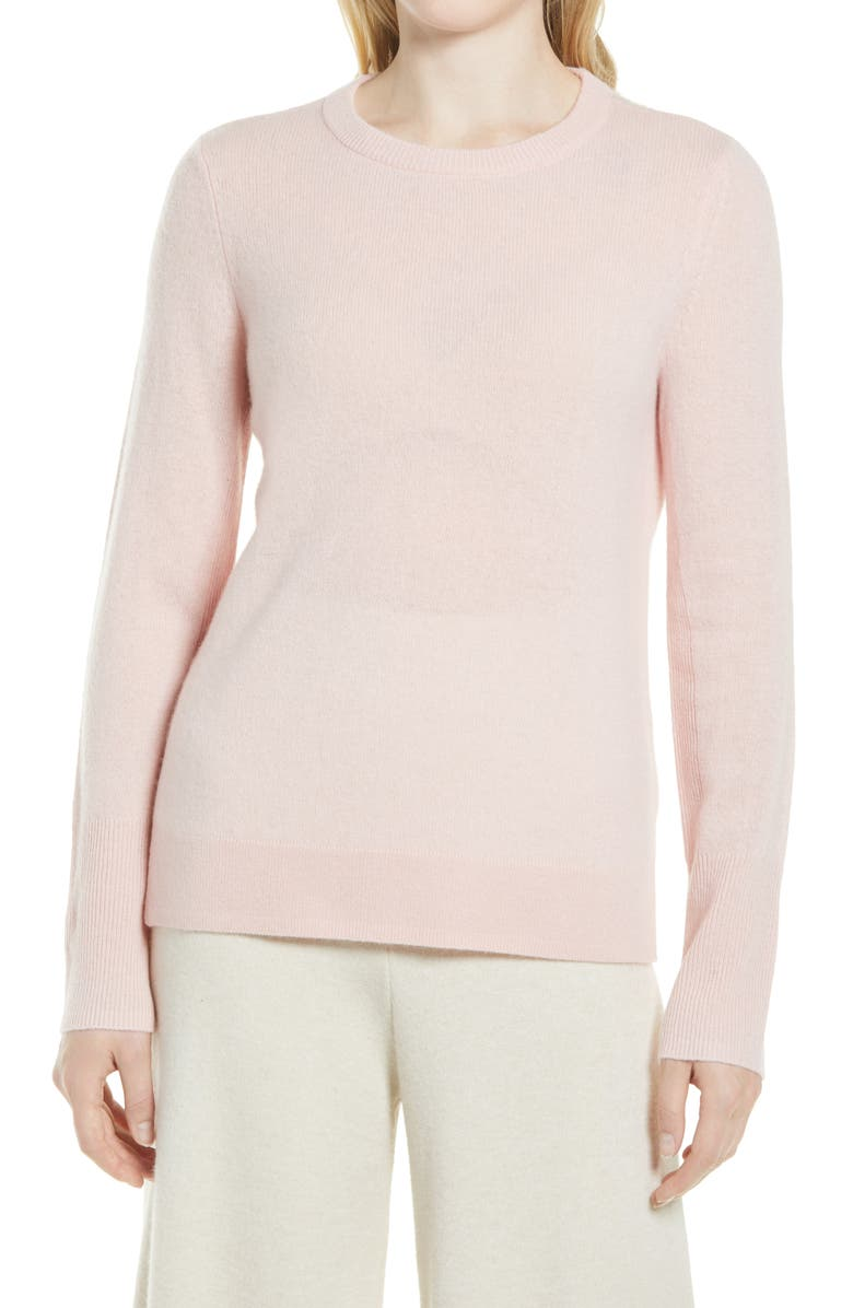 NORDSTROM Cashmere Sweater, Main, color, PINK LOTUS