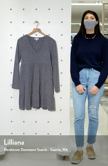 Tiered Long Sleeve Knit Dress, sales video thumbnail