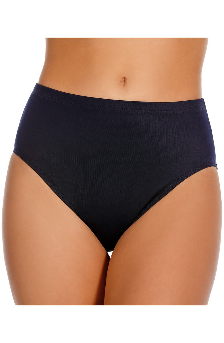 MIRACLESUIT<SUP>®</SUP> High Waist Swim Bottoms, Main, color, MIDNIGHT