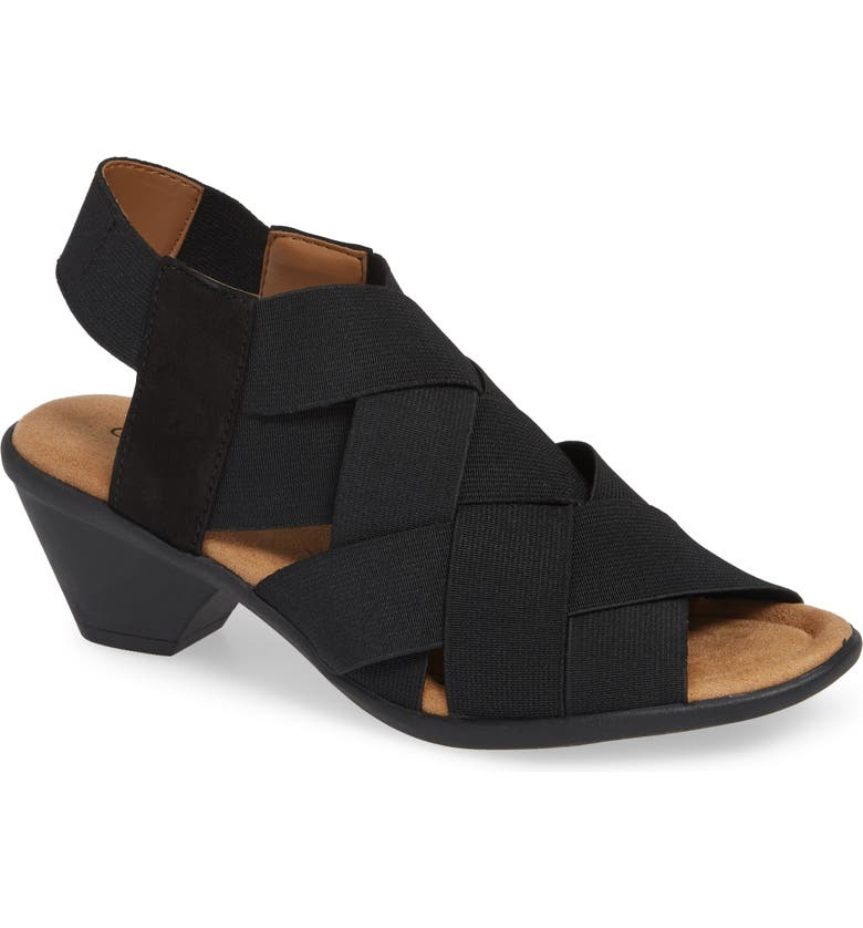 COMFORTIVA Farrow Woven Slingback Sandal, Main, color, BLACK NUBUCK LEATHER