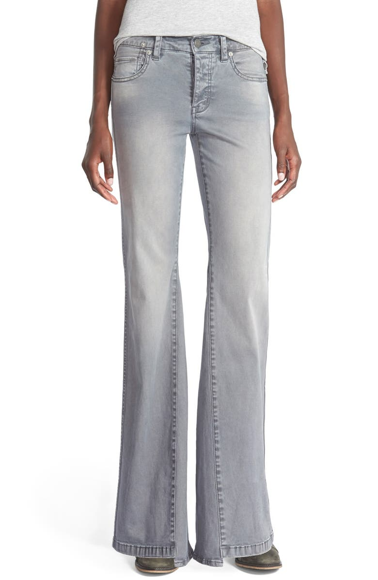 FREE PEOPLE 'Gold Coast' Flare Jeans, Main, color, 020