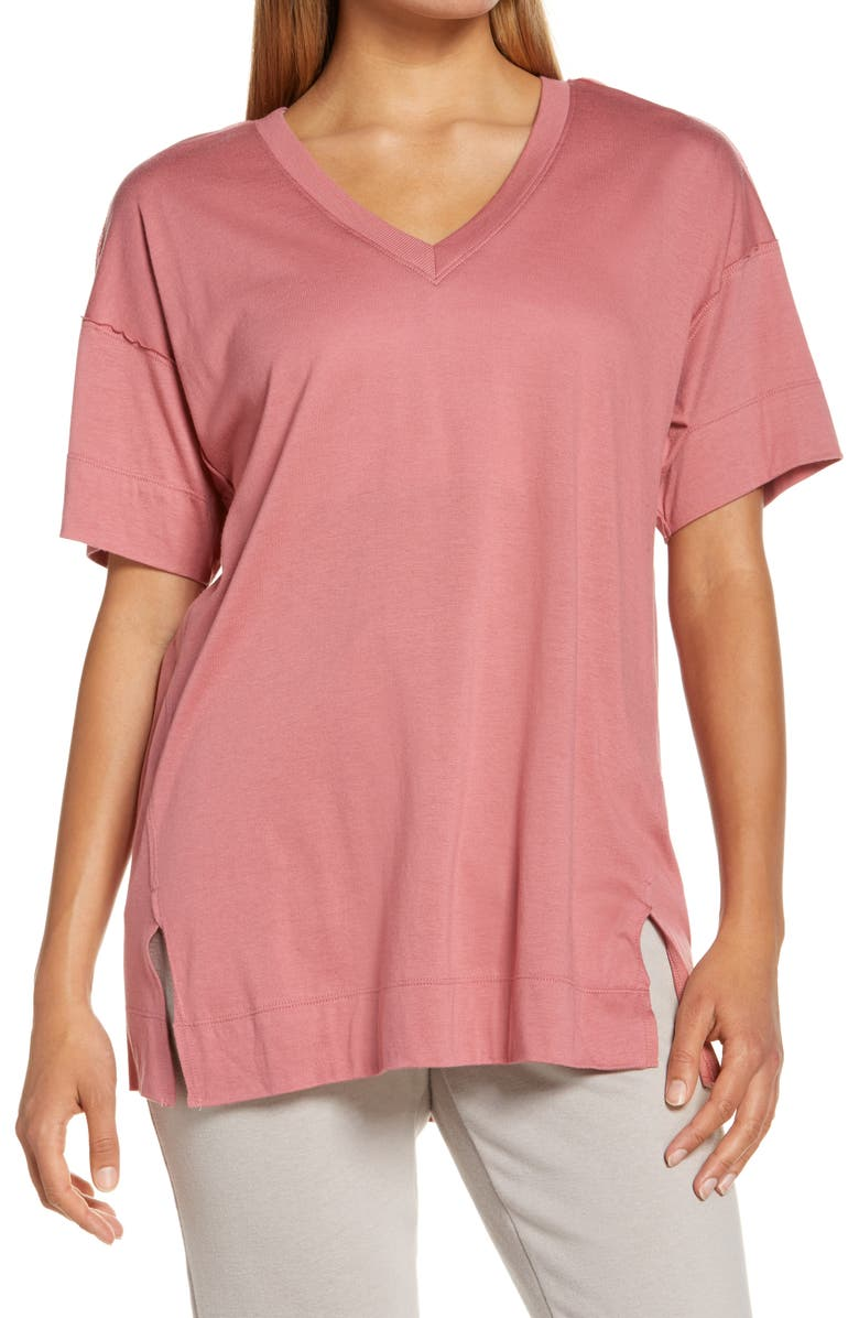 ZELLA All Day Oversize T-Shirt, Main, color, PINK MAUVE
