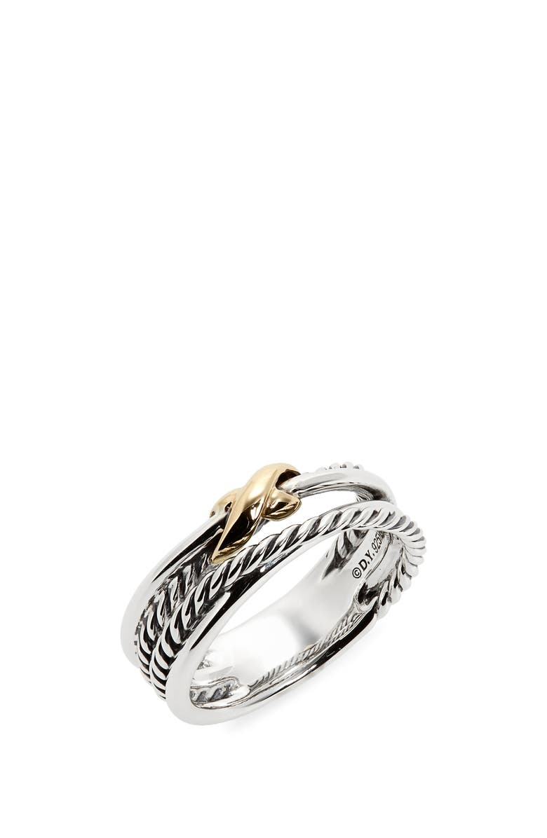 DAVID YURMAN X Crossover Ring, Main, color, TWO TONE